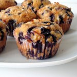 Brown Sugar Coconut Blueberry Muffins