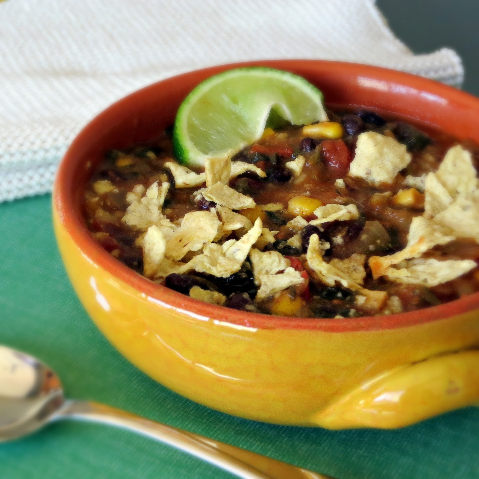 Chunky Tortilla Soup with Black Beans - Alida's Kitchen