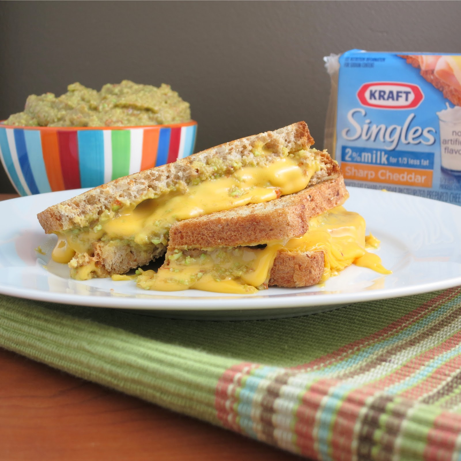 Guacamole Grilled Cheese Sandwich - Alida's Kitchen