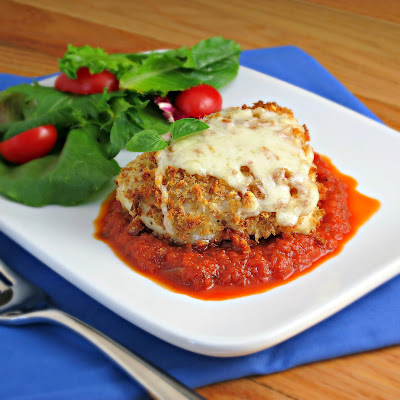 healthy lighter chicken parmesan