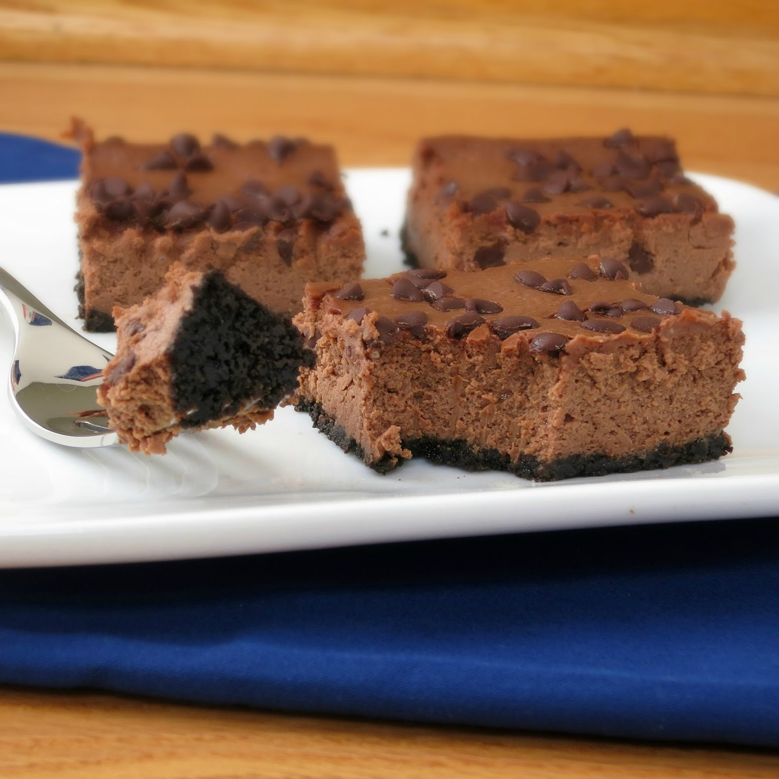 Chocolate Cheesecake Bars - Alida's Kitchen