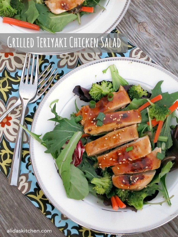 An easy recipe for Grilled Teriyaki Chicken Salad made in minutes ...