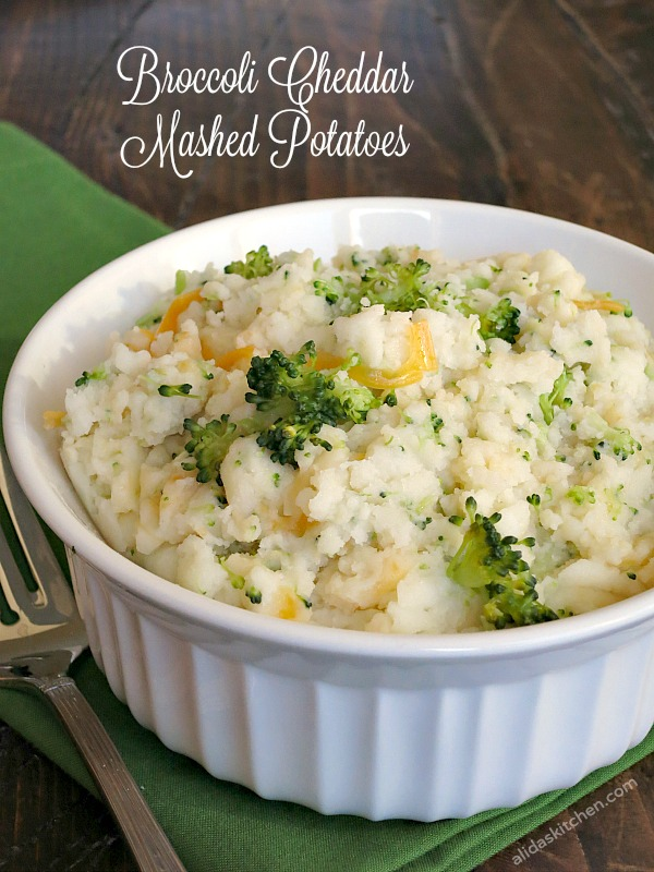 Broccoli Cheddar Mashed Potatoes | alidaskitchen.com
