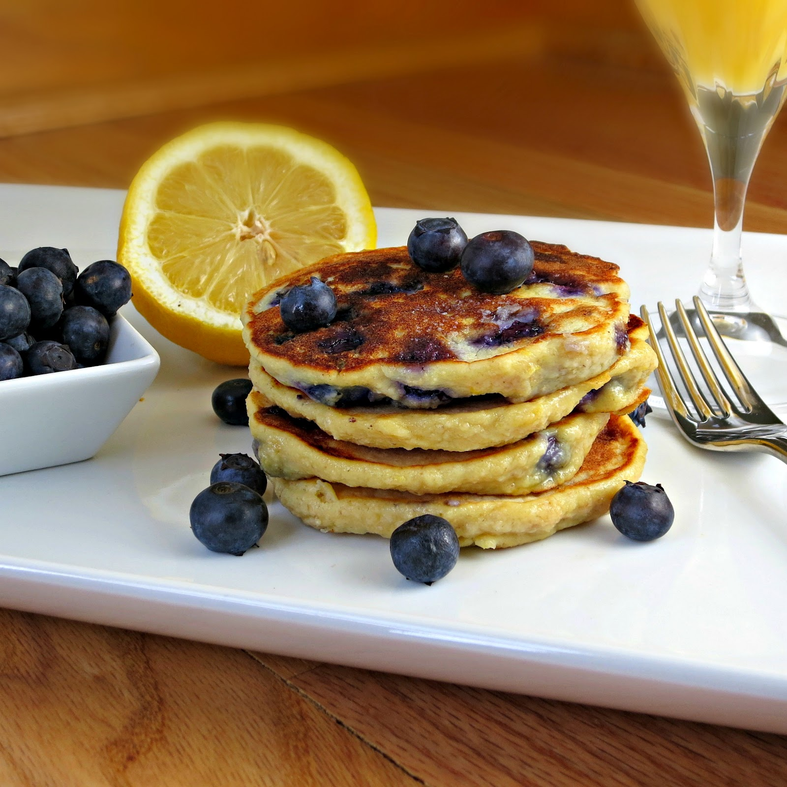 Whole Wheat Blueberry Lemon-Ricotta Pancakes - Alida's Kitchen
