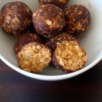 healthy chocolate peanut butter oat coconut bites