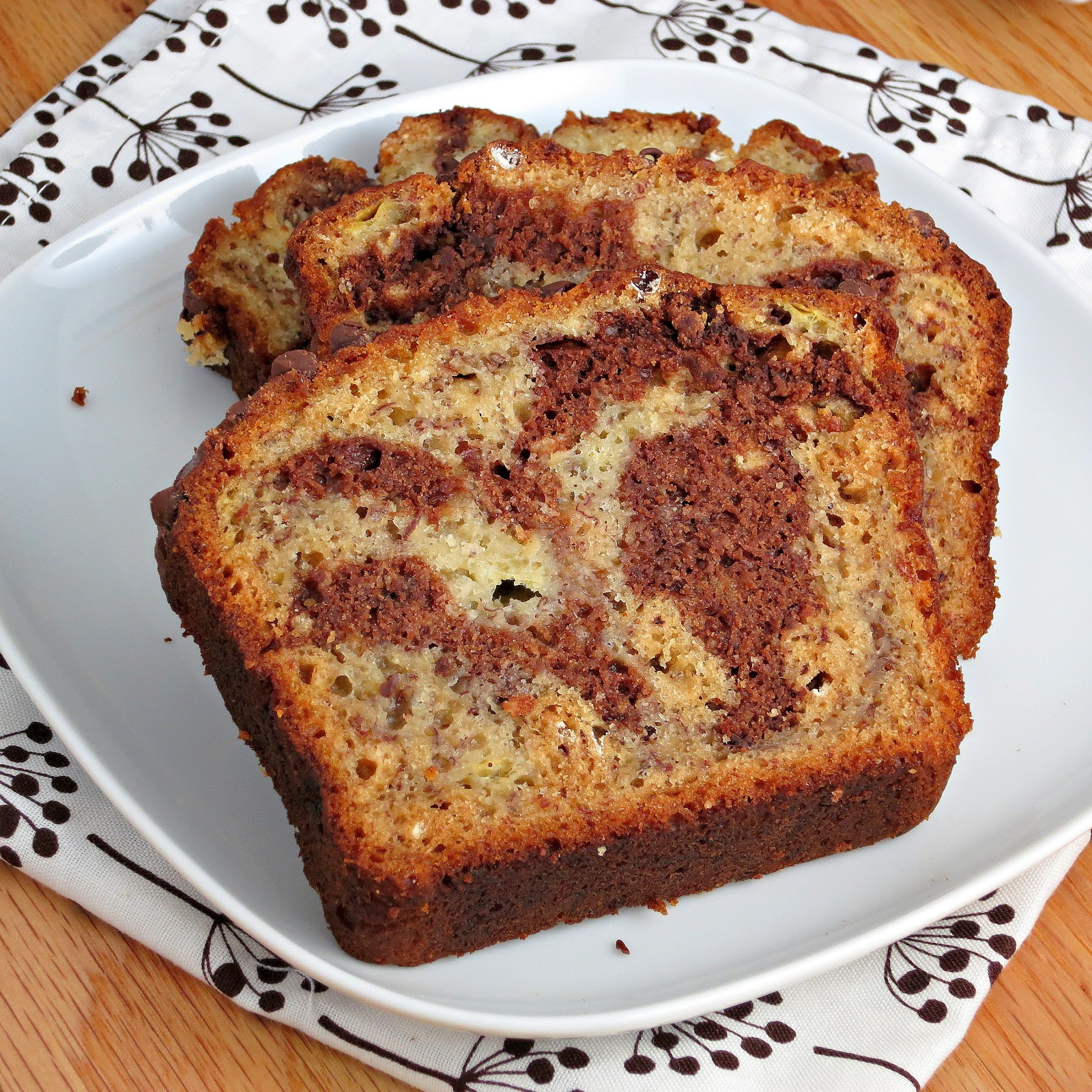 Marbled Chocolate Banana Bread - Alida's Kitchen