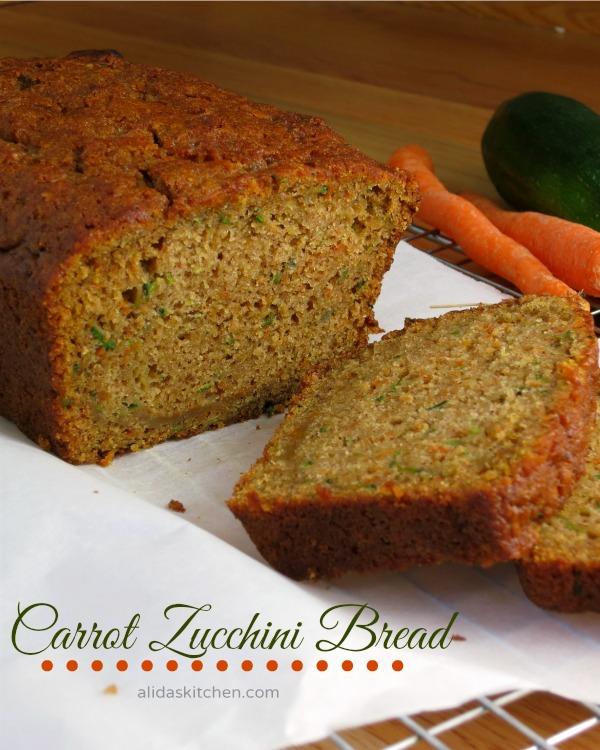 Carrot Zucchini Bread   alidaskitchen.com #recipes