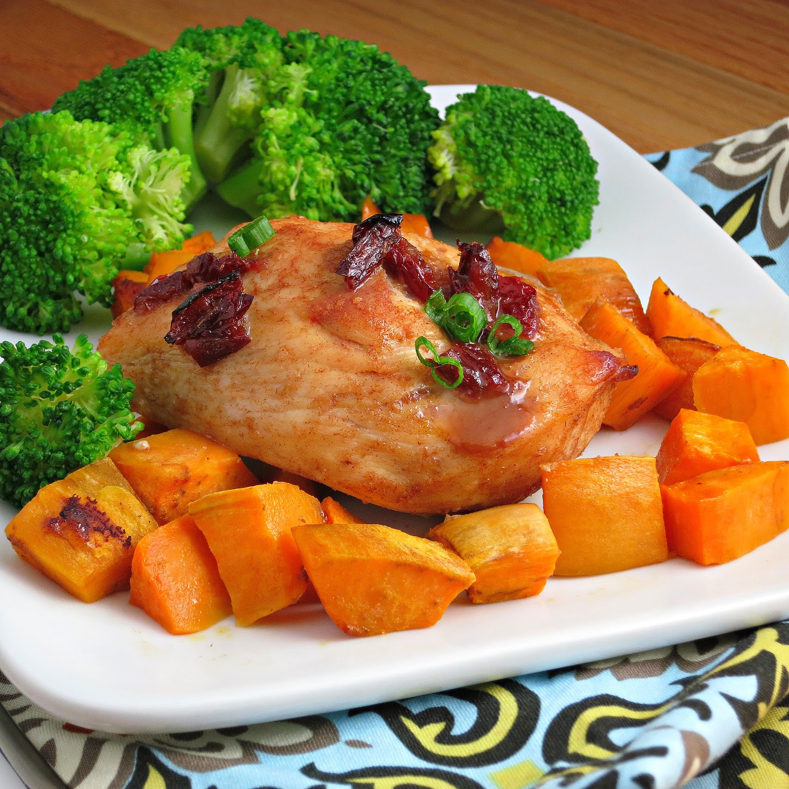 Spiced Chipotle Honey Chicken Breasts With Sweet Potatoes Recipes ...