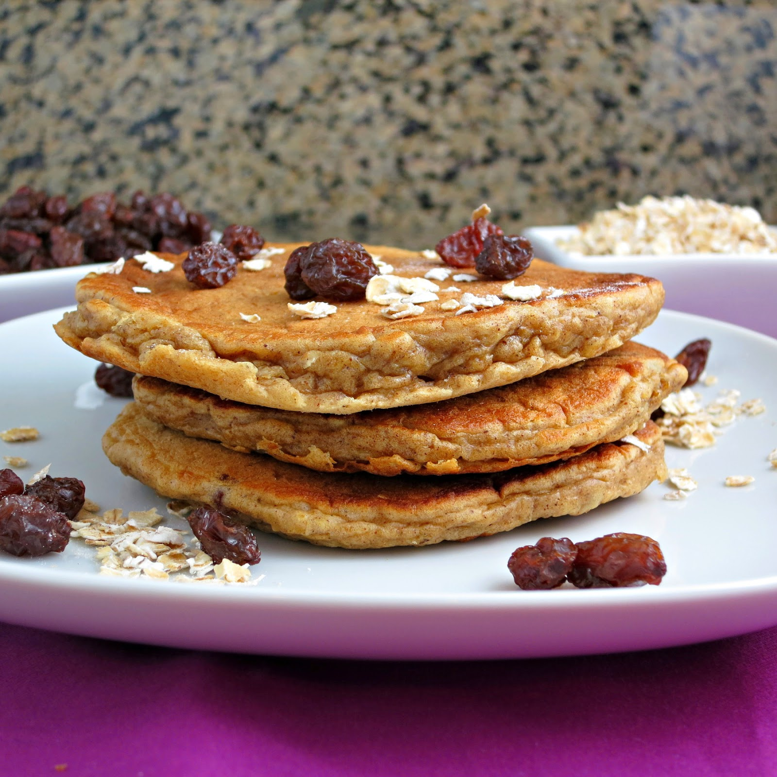 Oatmeal Raisin Cookie Pancakes - Alida's Kitchen