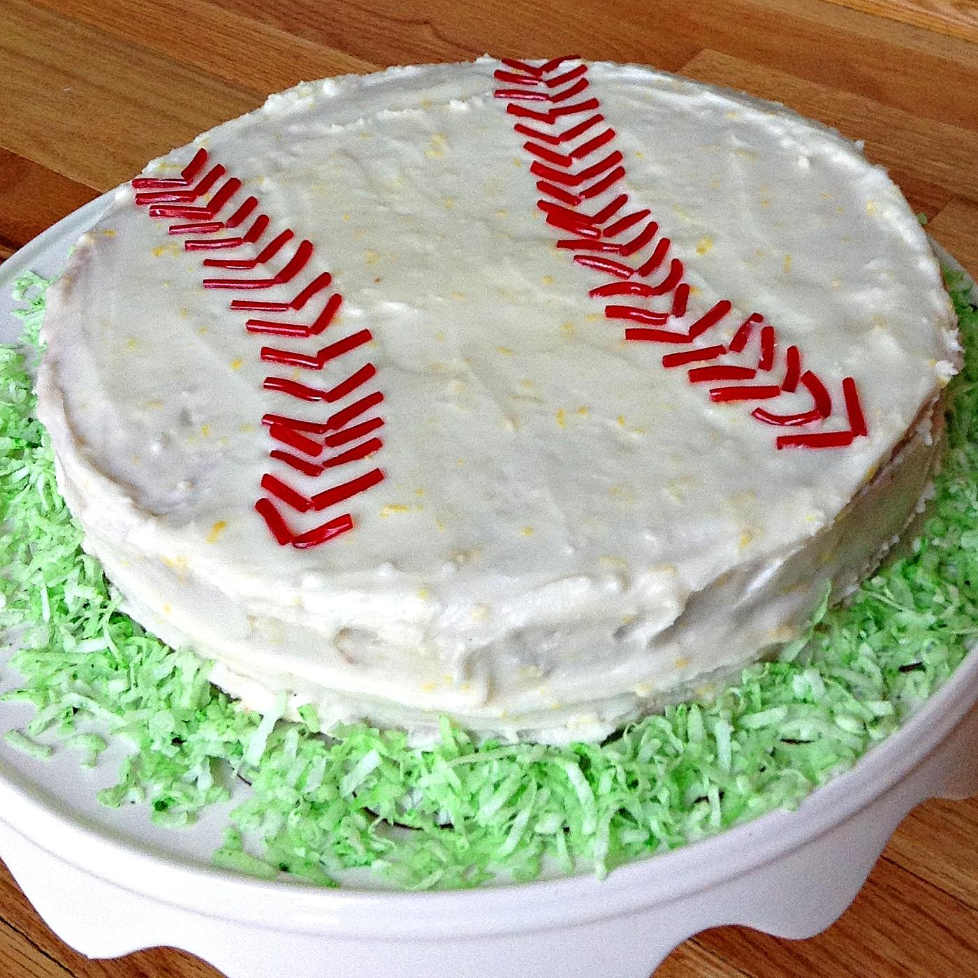 Outstanding Baseball Birthday Cake My Site Funny Birthday Cards Online Fluifree Goldxyz