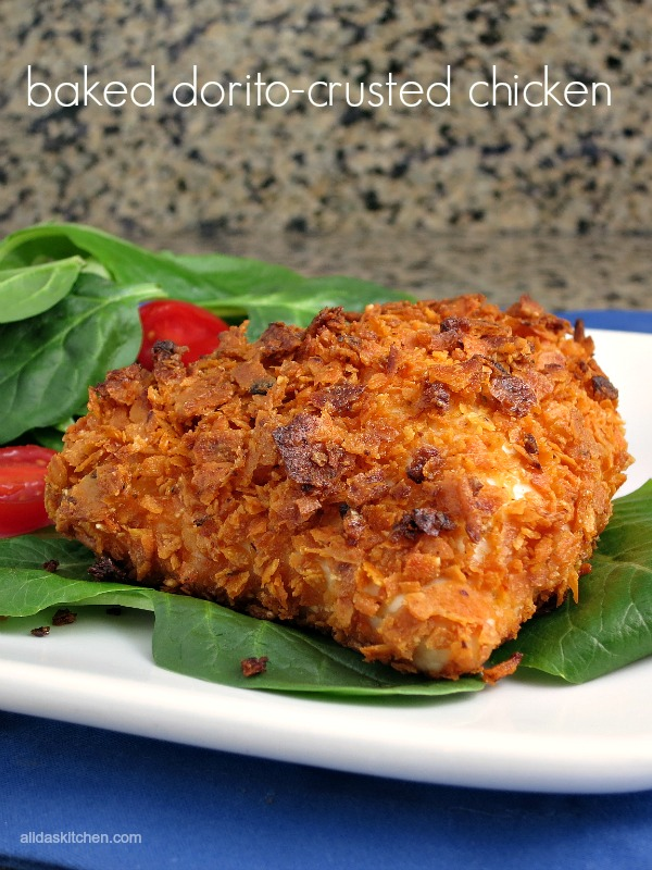 baked dorito-crusted chicken | alidaskitchen.com