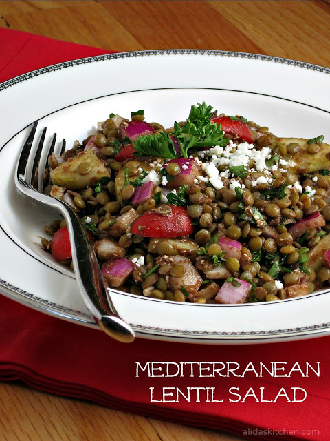 ... vegetable lentil salad with balsamic vinaigrette and feta cheese