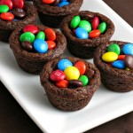 M&M Chocolate Cookie Cups #BakingIdeas