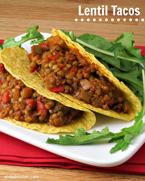 spiced lentil tacos were tacos are certainly a shredded cheese spiced ...