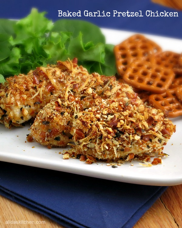 Baked Garlic Pretzel Chicken #WeekdaySupper