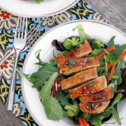 Grilled Teriyaki Chicken Salad | alidaskitchen.com
