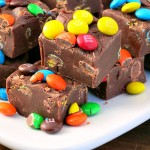 Easy M&M Fudge