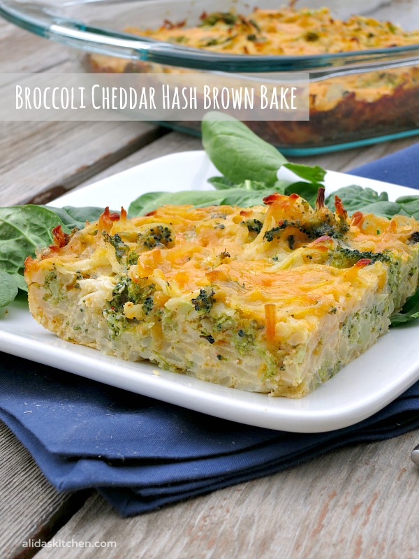 Broccoli Cheddar Hash Brown Bake | alidaskitchen.com