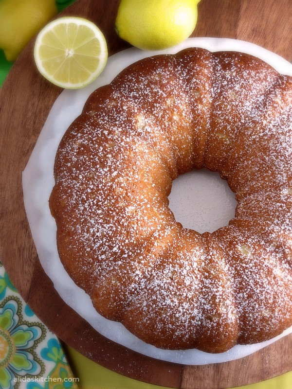 Lemon Buttermilk Bundt Cake | alidaskitchen.com